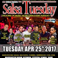 World Famous Salsa Tuesday - 2RMS 4DJs 2 Classes
