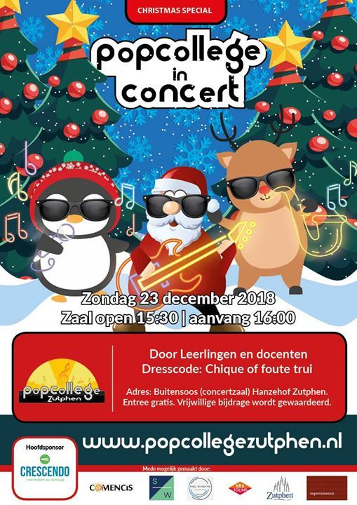 Chique Kersttrui.Kerstconcert Popcollege In Concert The Christmas Special At Theater