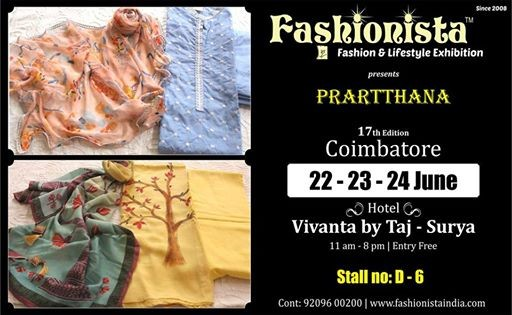 Prartthana at Fashionista Exhibitions Coimbatore