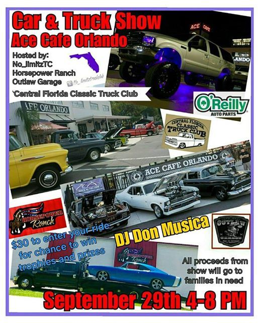 Car Truck Benefit Show At Ace Cafe Orlando Florida - Ace cafe orlando car show