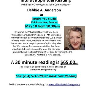 Intuitive Spiritual Readings with Debbie A. Anderson
