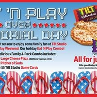 Eat and Play over Memorial Day at Tilt Studio