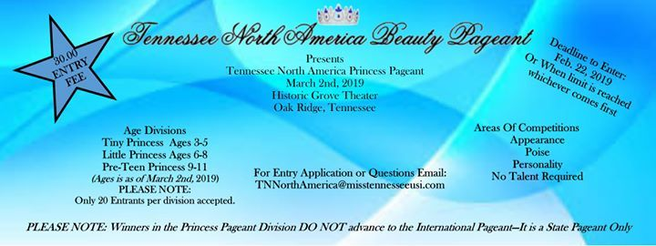 2019 Princess Tennessee North America Pageant at Historic
