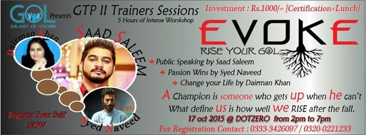 Evoke (Rise Your Goal) - Workshop