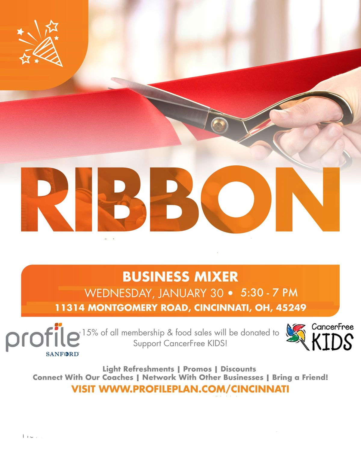 Profile by Sanford benefiting CancerFree KIDS Business Mixer