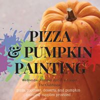 Pizza &amp Pumpkin Painting