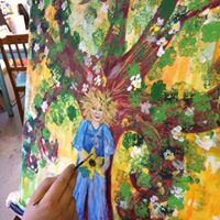 Summer Tree GoddessGreenman -A Painting Journey