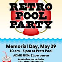 Memorial Day Retro Pool Party
