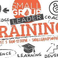 SmallGroup Leader Training
