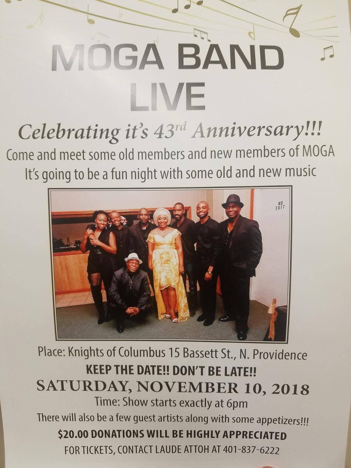 MOGA BAND LIVE 43rd Anniversary Concert