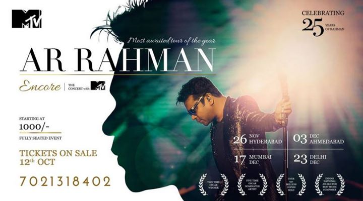 AR Rahaman Encore - The MTV Mumbai Concert