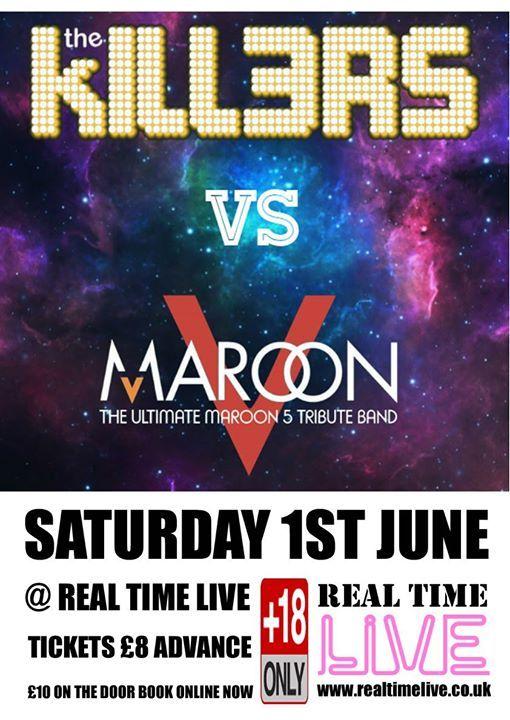 Maroon 5 and The Killers Tribute Night - Maroon V v Kill3rs