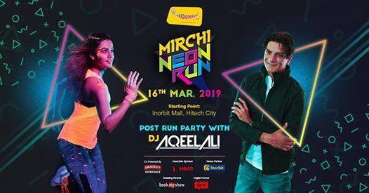 Mirchi Neon Run Hyderabad - 3k FUN RUN - Get Set Glow