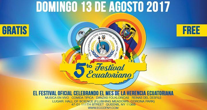 5to Festival Ecuatoriano (Gratis Free) Flushing Meadows Park