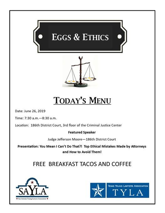 Eggs and Ethics: Ya Mean I Cant Do That?!? at Bexar County