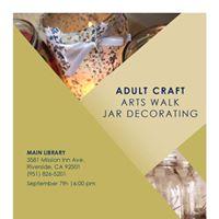 Arts Walk Jar Decorating