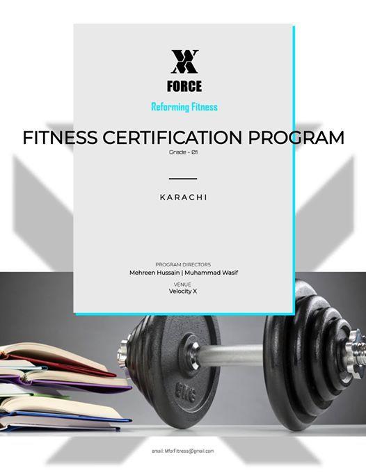 X-Force I Fitness Certification Program