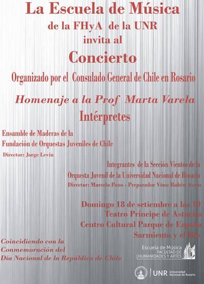 Concierto con Homenaje a la Prof Marta Varela