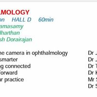 Dr Jaitra presentation on Smartphone imaging of Eye at Erode