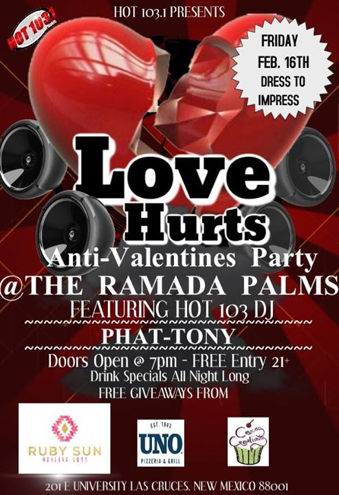 Love Hurts Anti Valentines Day Party At Ramada Palms Hotel Las