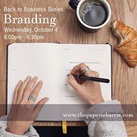 Workshop Back to Business  Branding
