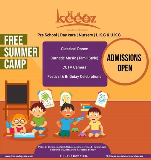 Free summer camp  Admissions open
