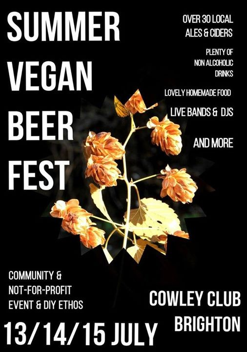 Summer Vegan Beer and Cider Fest - next month