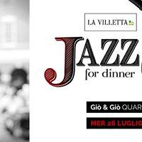 Jazz for Dinner a La Villetta tutti i Mercoled