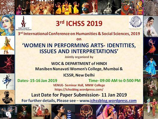 3rd ICHSS 15 - 16 Jan 2019