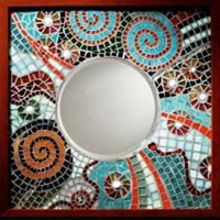Mosaic Mirror Class with Claire OBrien