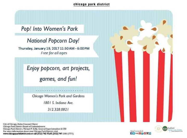 Popcorn Party at Chicago Womens Park Field House - Save Date