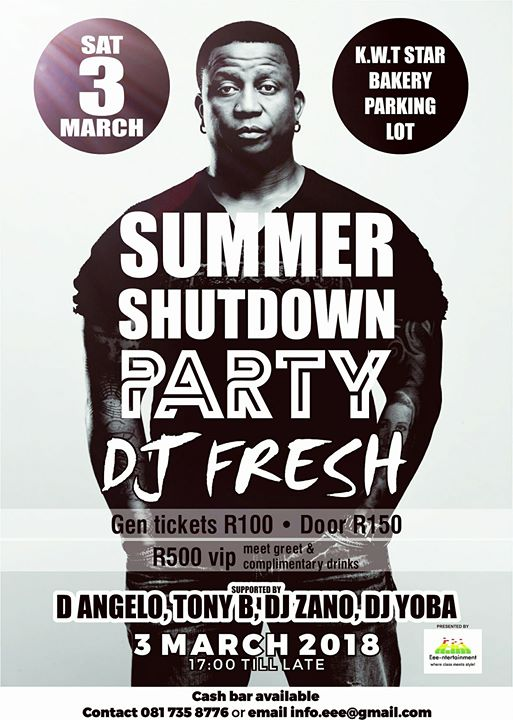 Summer Shutdown Party at King William's Town, South Africa, Amatole