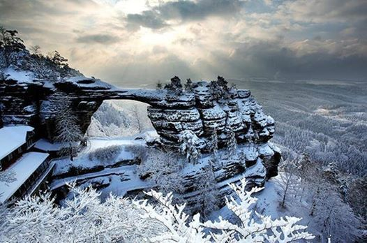 Winter Hike around Bohemian Switzerland