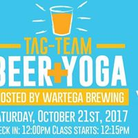 Tag Team Beer  Yoga at Wartega Brewing