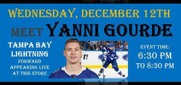 Yanni Gourde appearing at the Palm Beach Autographs Tampa