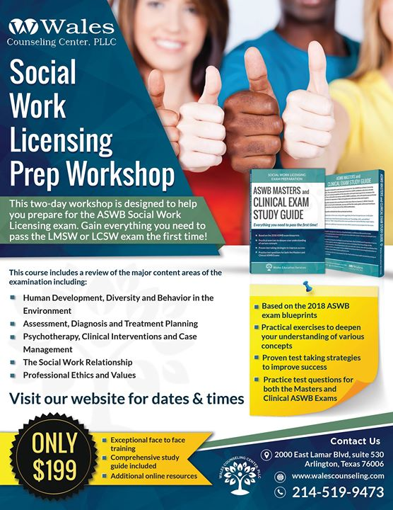 social work licensing exam prep Aswb clinical practice test if you want to be a clinical social worker, you need to get licensed the association of social work boards (aswb) administers the clinical social work licensing exam.