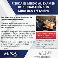 Pierda El Miedo Al Examen De Ciudadana Con MIRA USA En Tampa
