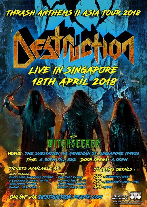 DESTRUCTION (GER) - THRASH ANTHEMS II ASIA TOUR 2018 - Singapore 18.04.18