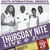Gravitti in Concert Thursday Nite Live at Js Westlands