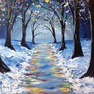 Holiday Bliss Paint Sip 2018 At Painting With A Twist Glen Rock