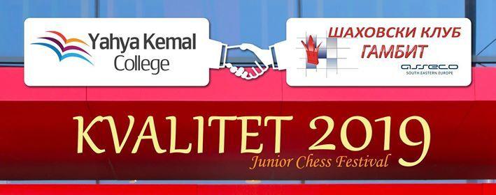 Kvalitet - junior chess festival 2019 at Yahya Kemal College
