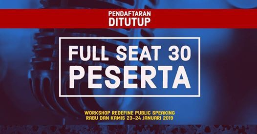 Workshop Redefining Public Speaking Januari