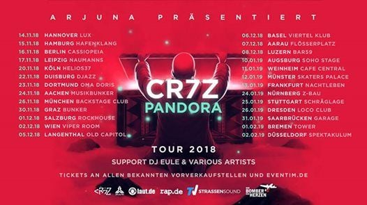 Cr7z  Augsburg  Pandora Tour 2019  Support Sam Sillah
