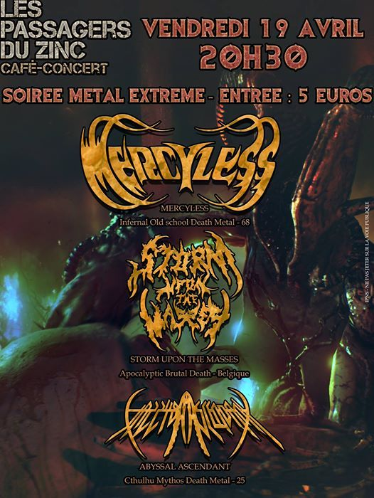 Soiree Metal Extreme Aux Pdz
