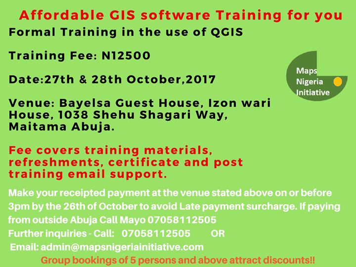 Affordable GIS Training - Training in the use of QGIS at