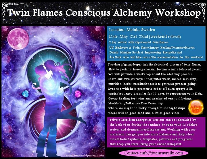Twin Flames Conscious Alchemy Workshop at Sweden, Motala, Motala