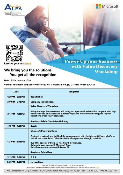 Power Up your business with Value Discovery Workshop
