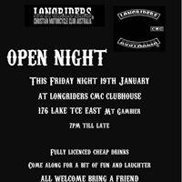 Mt Gambier Open Night 19th Jan