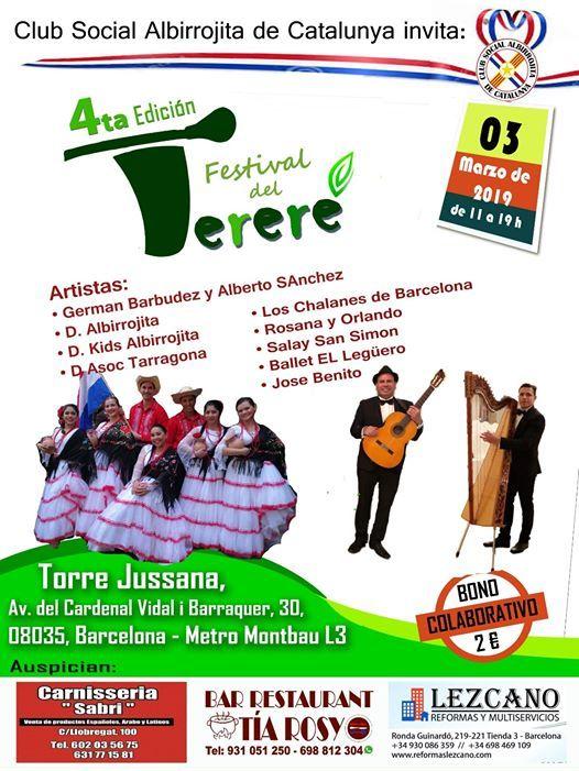FESTIVAL DEL TERERE BARCELONA 2019 - 4TA EDICIN