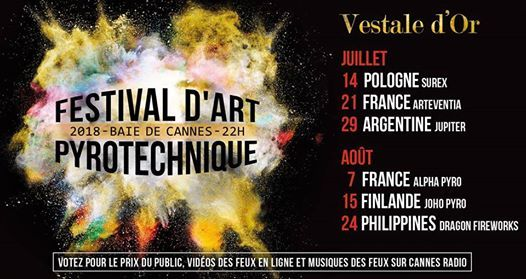 Image result for festival d'art pyrotechnique cannes 2018